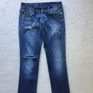G-STAR RAW DISTRESSED SIZE 33 BLUE JEANS